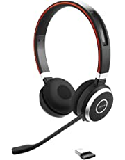 Jabra Evolve 65 Wireless Bluetooth Stereo Headset for PC/Laptop/Smartphone and Tablet - Retail Pack