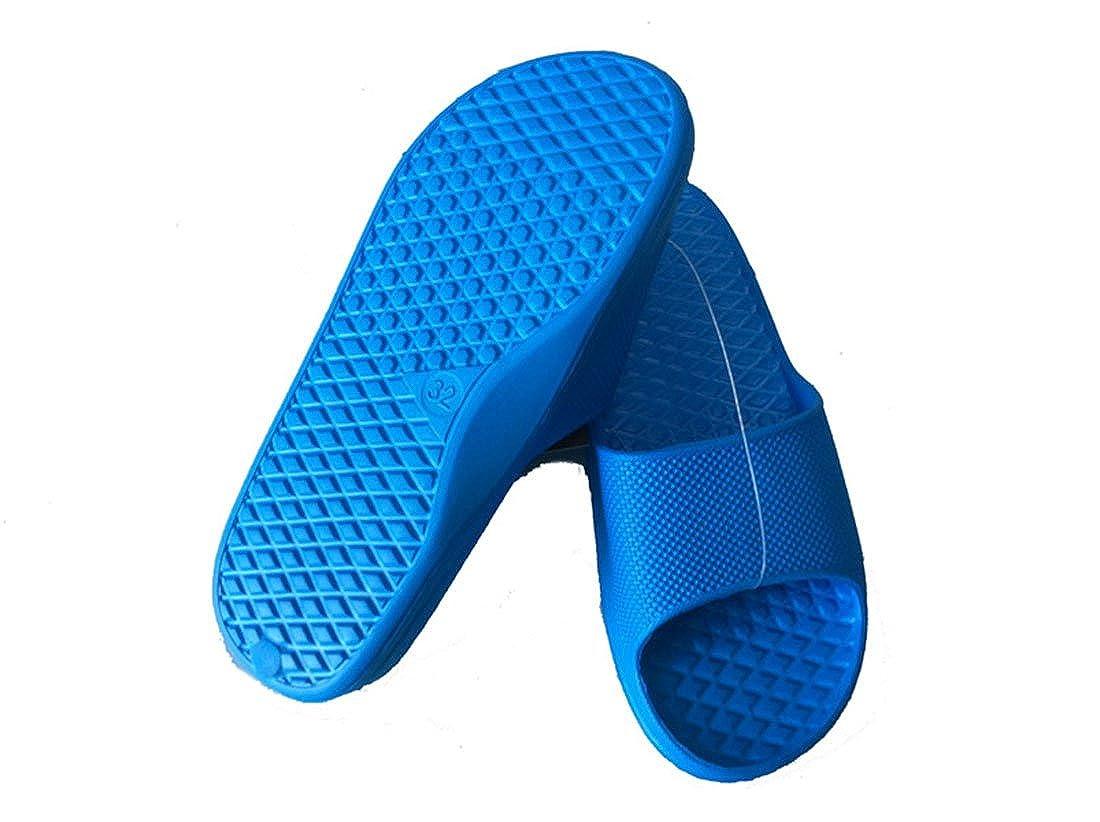 ,Size 13-1 M US Little Kid Blue 8-12 Years Mcnen Kids Bathroom Slipper,Beach Sandal for Litter Kids