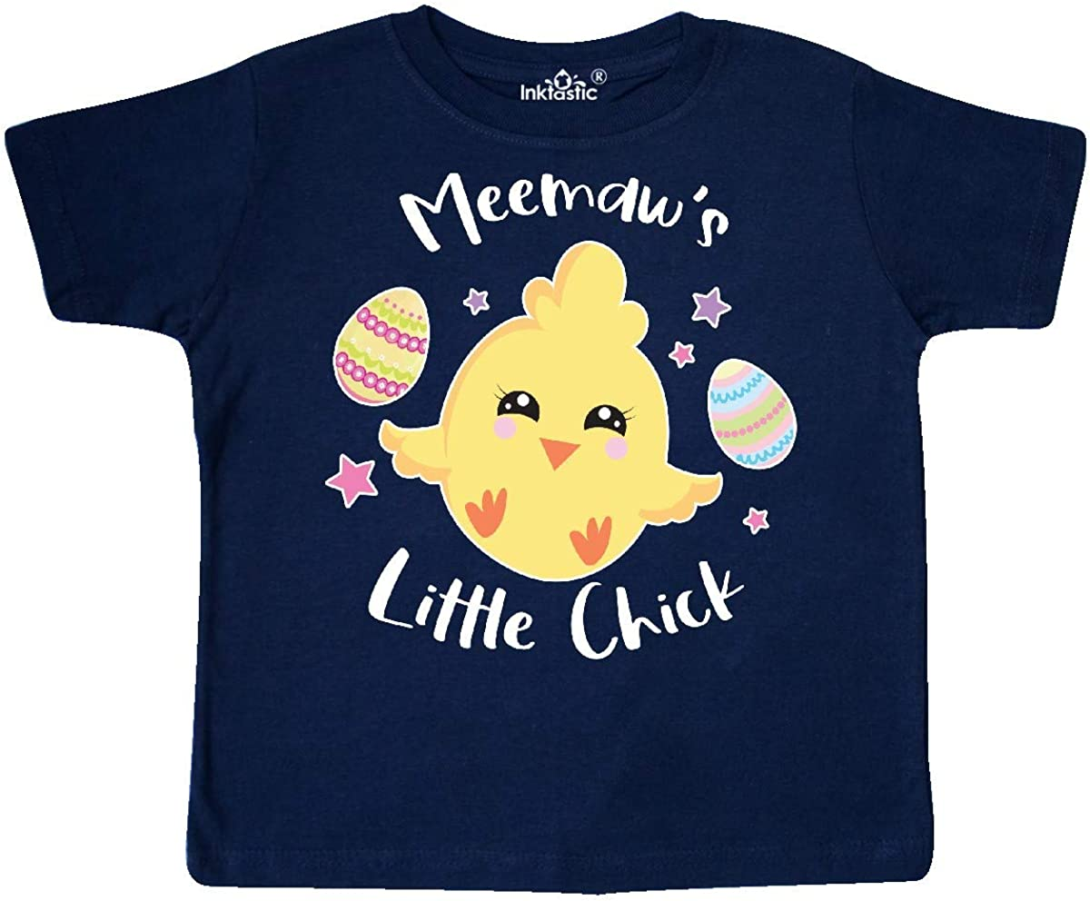 inktastic Happy Easter Meemaws Little Chick Toddler T-Shirt