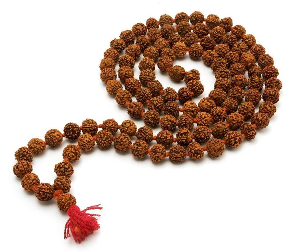 100/% Original 10 mm Bead Size Rosary Rudraksha 108 Beads// 108 Beads Rudraksha Japa Mala 5 The Himalayan Collections