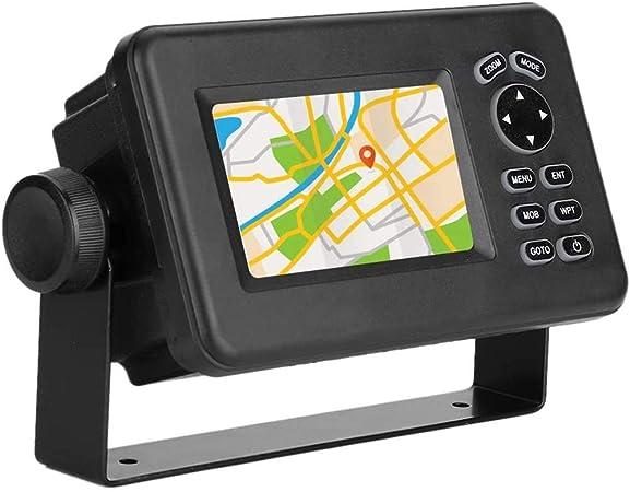 Marine Navigator Profesional 4.3 Pulgadas LCD Combinado GPS Marino Navigator Transmisor-Receptor con Varios Monitores Soporta Funcionalidad SBAS,Negro: Amazon.es: Hogar