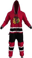 c20a8733ec Hockey Sockey Chicago Blackhawks NHL Adult Onesie Ice Hockey Team Fan  Apparel