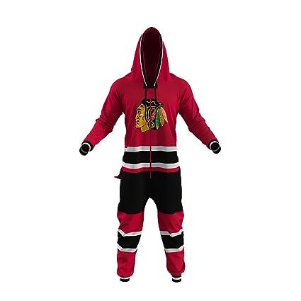 promo code adbf7 b0247 Hockey Sockey Chicago Blackhawks NHL Adult Onesie Ice Hockey Team Fan  Apparel