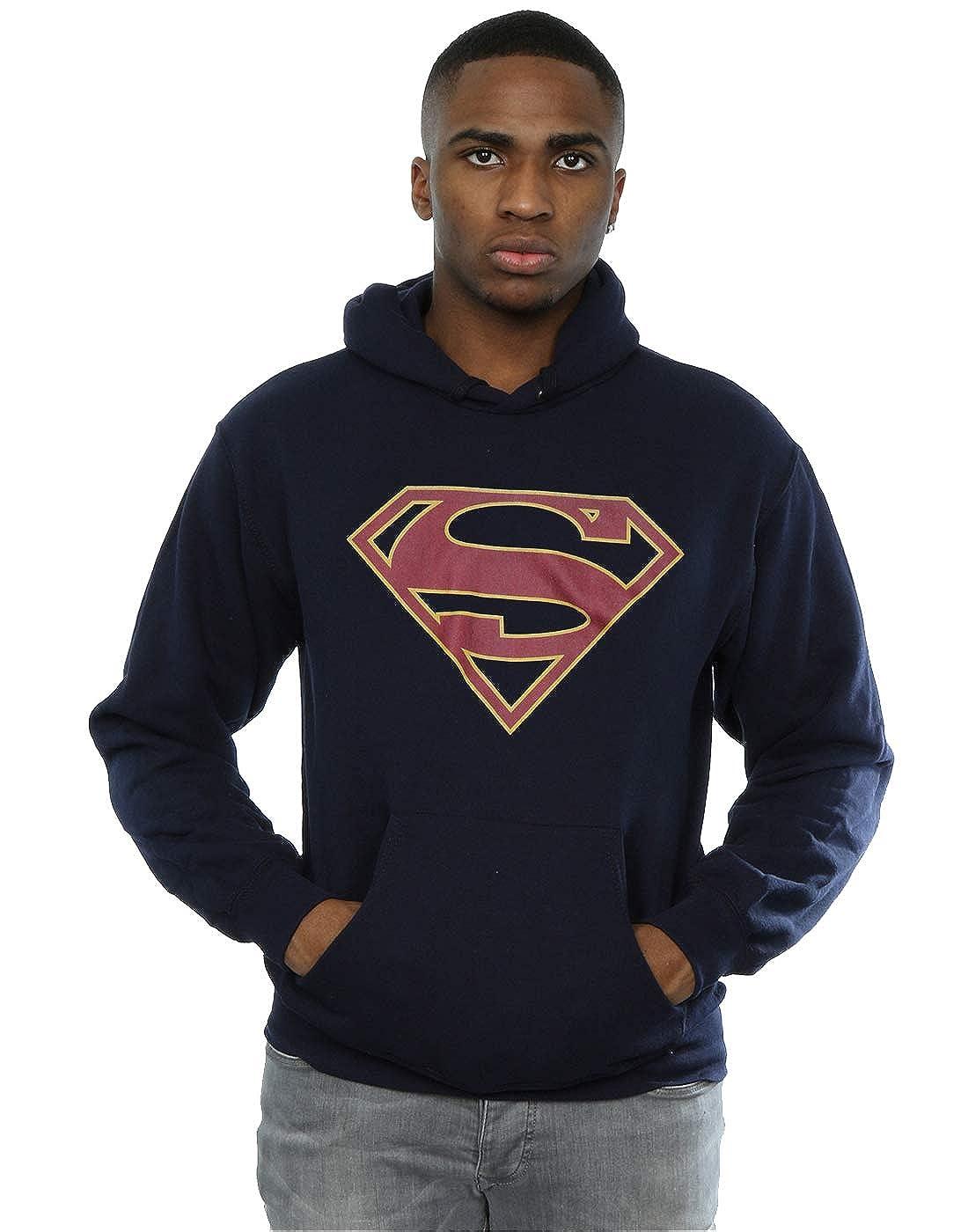 Absolute Cult DC Comics Herren Supergirl Logo Kapuzenpullover