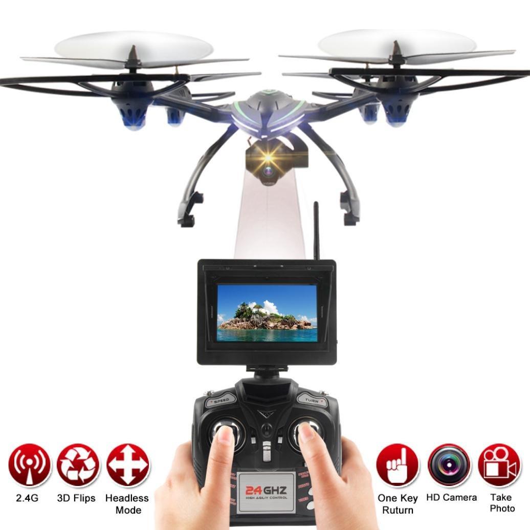 JXD 506G Drone Mit Kamera, 5.8g 720P 2.0MP FPV, 2.4G 6-Axis Gyro RC Quadcopter, Höhe Halten RC Quadcopter ,One-Key-Return,360-Flip,Headless-Modus,Ferngesteuerte Spielzeug