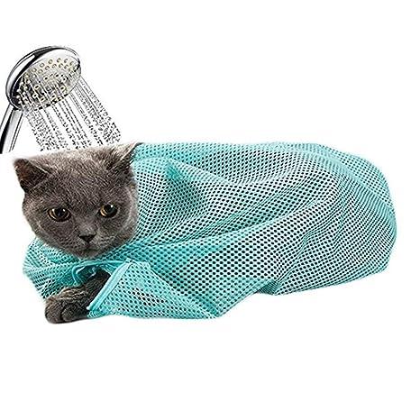 Bolsa de Baño para Lavar, Peluqueria para Mascotas Gatos Anti Rasguno Anti Mordaz Bolsa de