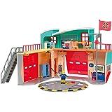 Smoby - 109258282002 - Sam le Pompier - Caserne de Pompier Pontypandy - + 1 Figurine - Piles Incluses