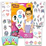 Trolls Temporary Tattoos Party Favor Set (75 Temporary Tattoos) with 2 Bonus Licensed Stickers