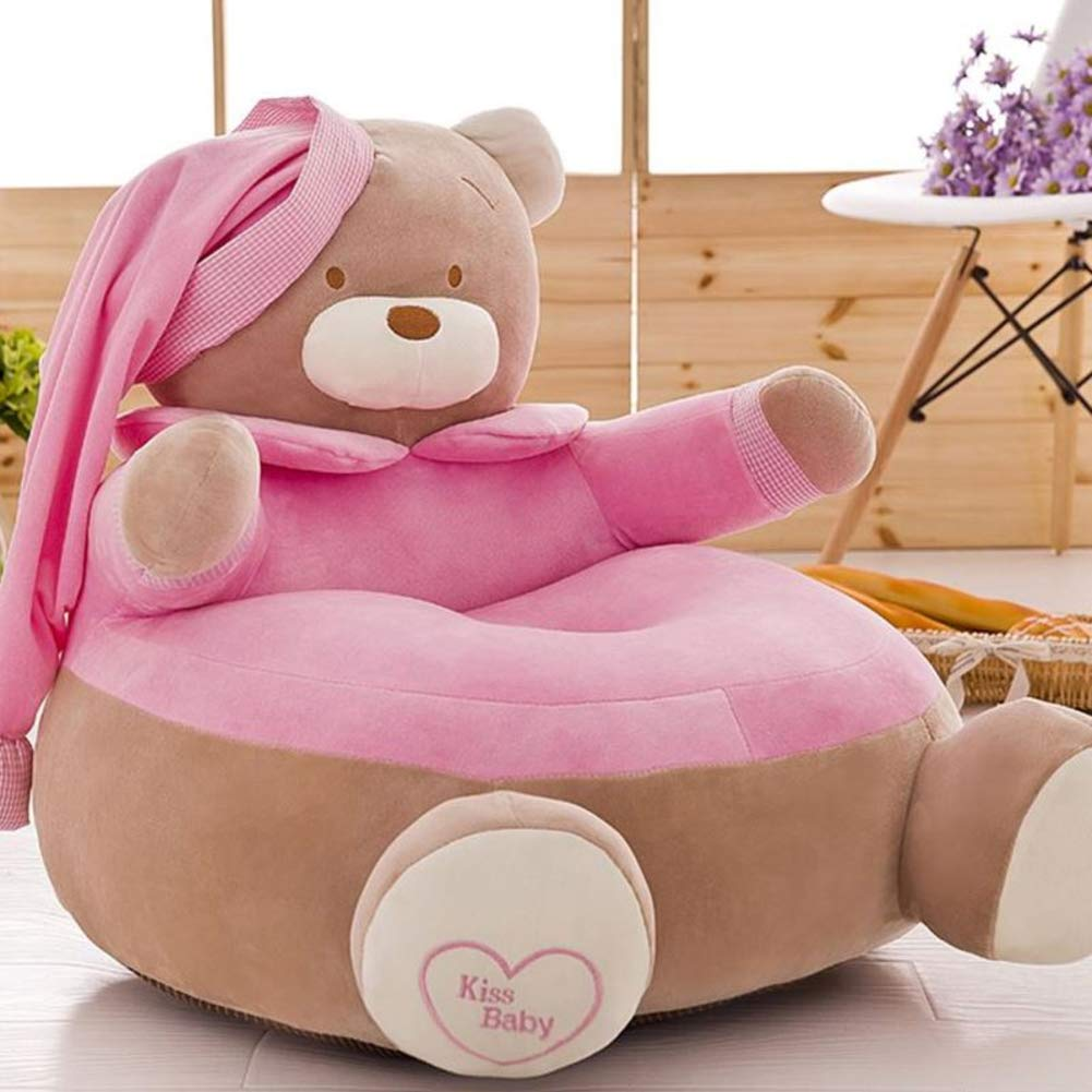 WAYERTY Children Sofa, Kid Sofa Mini Cartoon Baby seat Boy and Girl Single Lazy Reading Upholstered Bedroom Kid Chair-A
