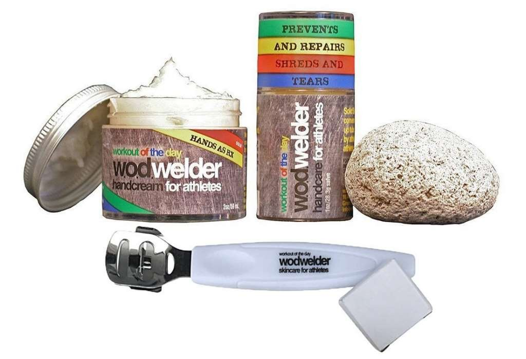 WOD Welder Handcare Value Pack - Solid Salve, Pumice Stone, RX Daily Cream and Power Callus Shaver with Extra Blades W.O.D. Welder