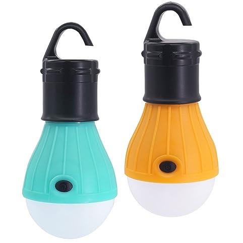 2 Packs SlimK Gen 2 C&ing Tent Lantern LED Bulb Tent Night Light Emergency (Turquoise  sc 1 st  Amazon.com & Amazon.com: 2 Packs SlimK Gen 2 Camping Tent Lantern LED Bulb Tent ...