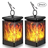 Solar Lantern Lights, Outdoor Waterproof Dancing Flame Lights, YSLP Hanging Lantern Solar Powered Umbrella LED Effect Night Lights Landscape Lanterns Auto On/Off Night Light Garden Yard Patio Deck