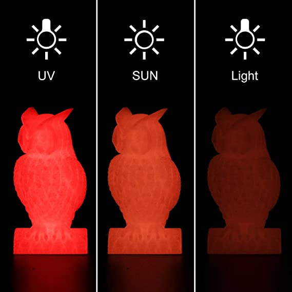 AMOLEN PLA Filamento Impresora 3D, 1.75mm Glow in the Dark Rojo ...