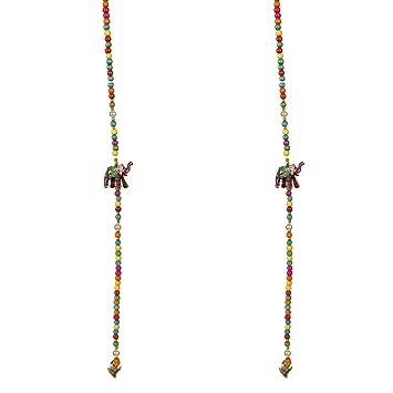 Amazon Com Amba Handicrafts Door Hanging Multi Beads And Elephant