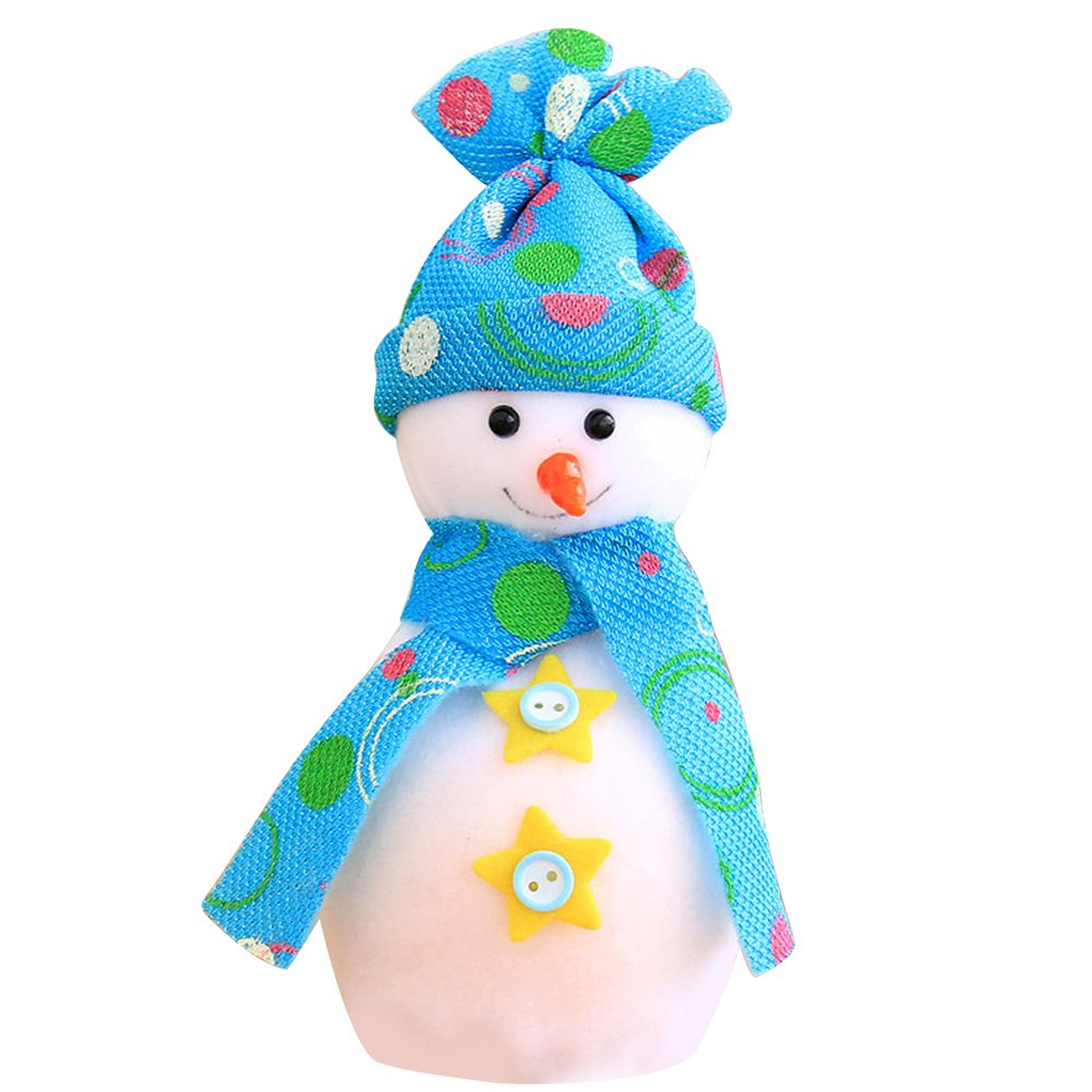 dds5391 Cute Christmas Snowman Doll Apple Bag Pendant Kids Xmas Gift Decoration