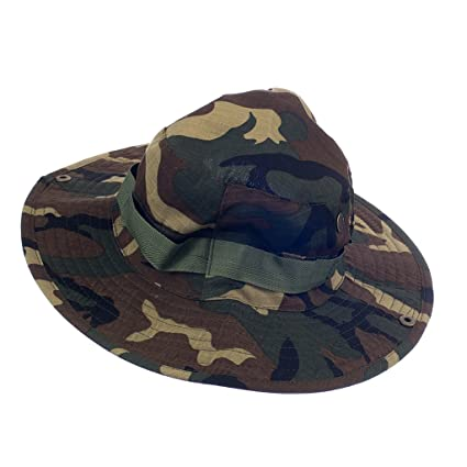 ce976a1109b3e Buy Imported Mens Camo Military Boonie Cap Sun Bucket Brim Army Fishing  Hiking Hat  5 Online at Low Prices in India - Amazon.in