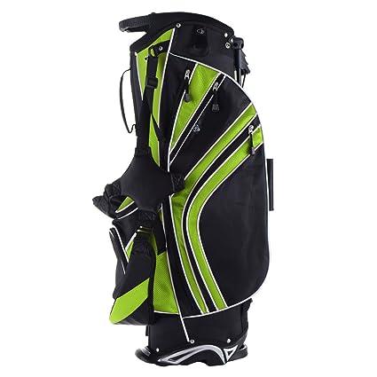 05bd9e5ea44f Amazon.com : Green 6 Way Divider Golf Stand Bag Carry Organizer ...