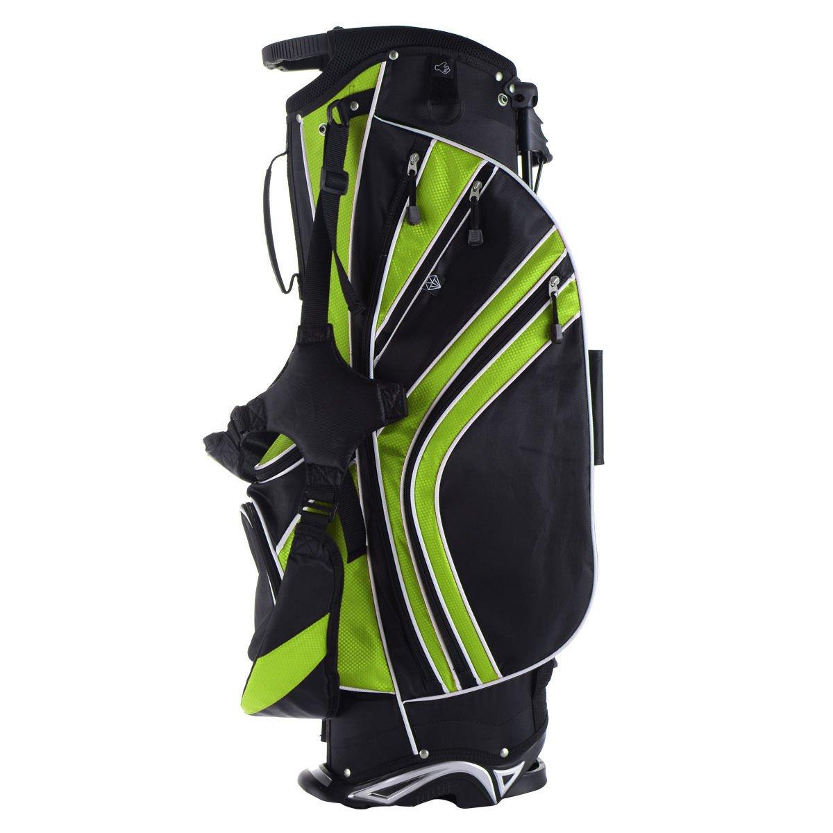 Green 6 Way Divider Golf Stand Bag Carry Organizer