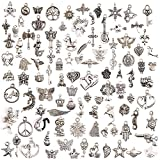 Wholesale 50pcs Bulk Lots Tibetan Silver Plated Mixed Pendants Charms Jewelry