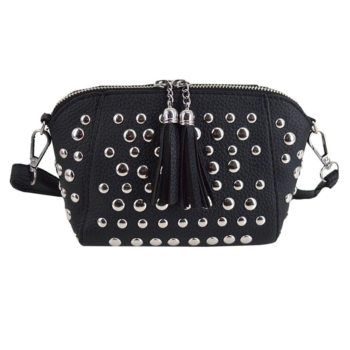 d2052162063d Heidi Women's Small Studs Crossbody Handbag Fashion Shell Shape Shoulder  Messenger Bag