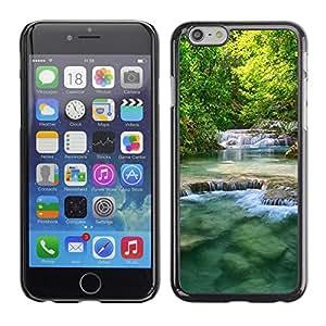 Smartphone Rígido Protección única Imagen Carcasa Funda Tapa Skin Case Para Apple Iphone 6 Nature Beautiful Waterfalls / STRONG