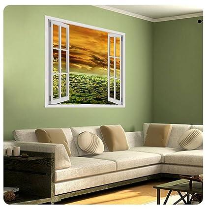 Alonline Art Romantic Sunbeam Fake 3D Window POSTER PRINTS ROLLED (Print On  Fine Art PHOTO