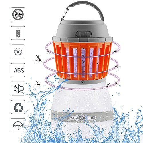 Peikai Bug Zapper Lamp& Camping Lantern-2 In 1 LED Lamp Charge Via USB-Lightweight Camping Gear & Accessories For Indoor & Outdoors, Home & Traveling & Emergencies-IP67 Waterproof-Compact- 2200mAh by Peikai
