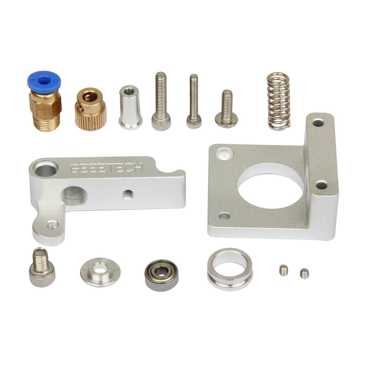 Extruder Aluminum feeder kit with adjustable bolt, Used for 1.75mm filament of 3D printer MK8 bowden extruder frame GEEETECH