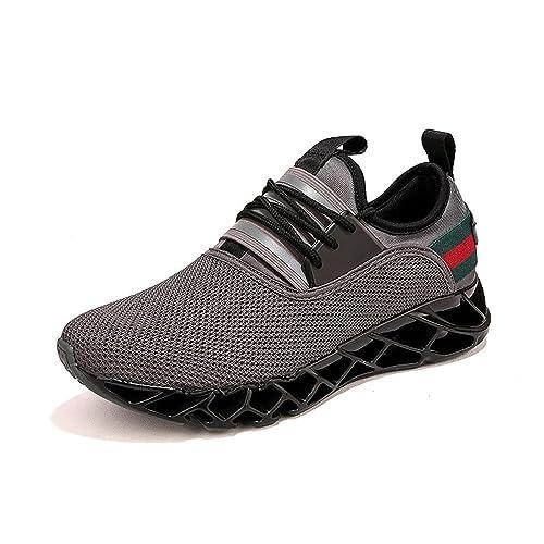 Zapatillas Running Hombre Deporte Hombres Zapatos para Correr Calzado Verano Sneakers Gimnasia Respirable Negro Gris Marrón 39-46: Amazon.es: Zapatos y ...