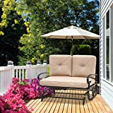 Incbruce Outdoor Swing Glider Rocking Chair Patio