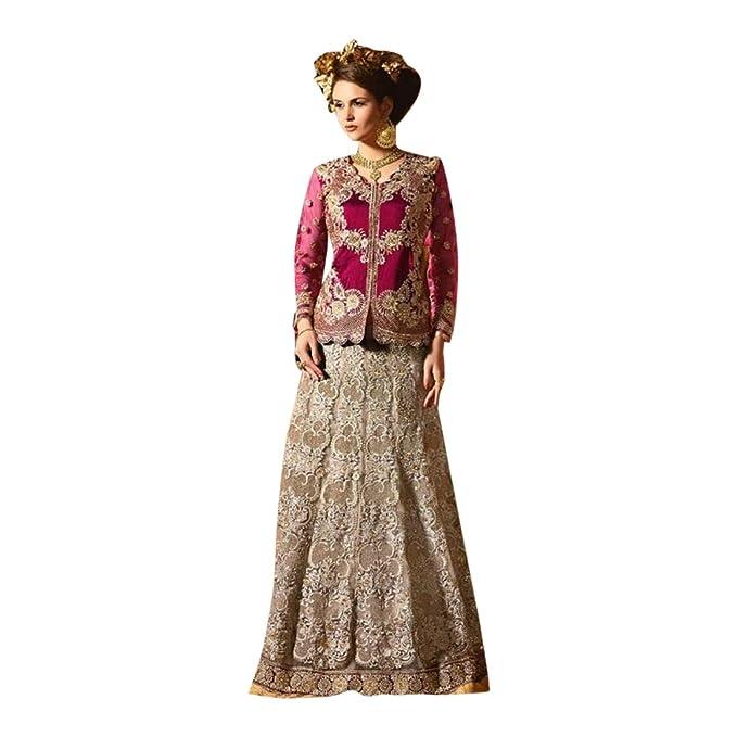 Amazon.com: Colección festiva Lehenga Choli Dupatta Mujeres ...