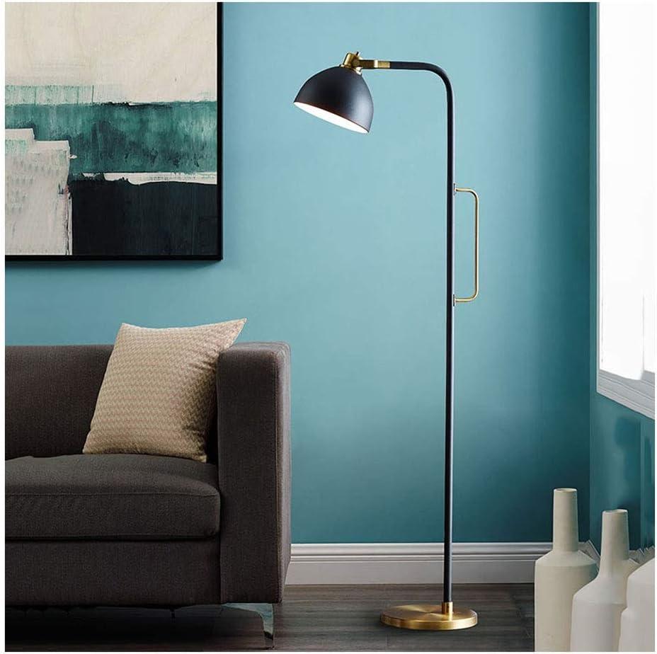 Standing Light American Floor Lamp Simple Creative Bedroom Living Room Study Sofa Remote Control Vertical Light Nordic Decorative Lighting 3 Heads Standing Lamps Living Room