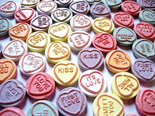 Imagekind Wall Art Print entitled Love Hearts Sweets - Valentines Day by Michael Tompsett | 10 x 7