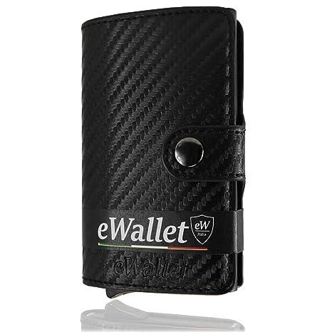 6ec6df3f12 Porta Carte di credito, eWallet, Portafoglio, Blocco RFID, in Pelle PU,