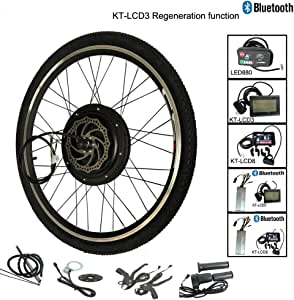 Guoz 1500W LCD8 Bluetooth-Eléctrico Bicicleta de conversión Motor ...