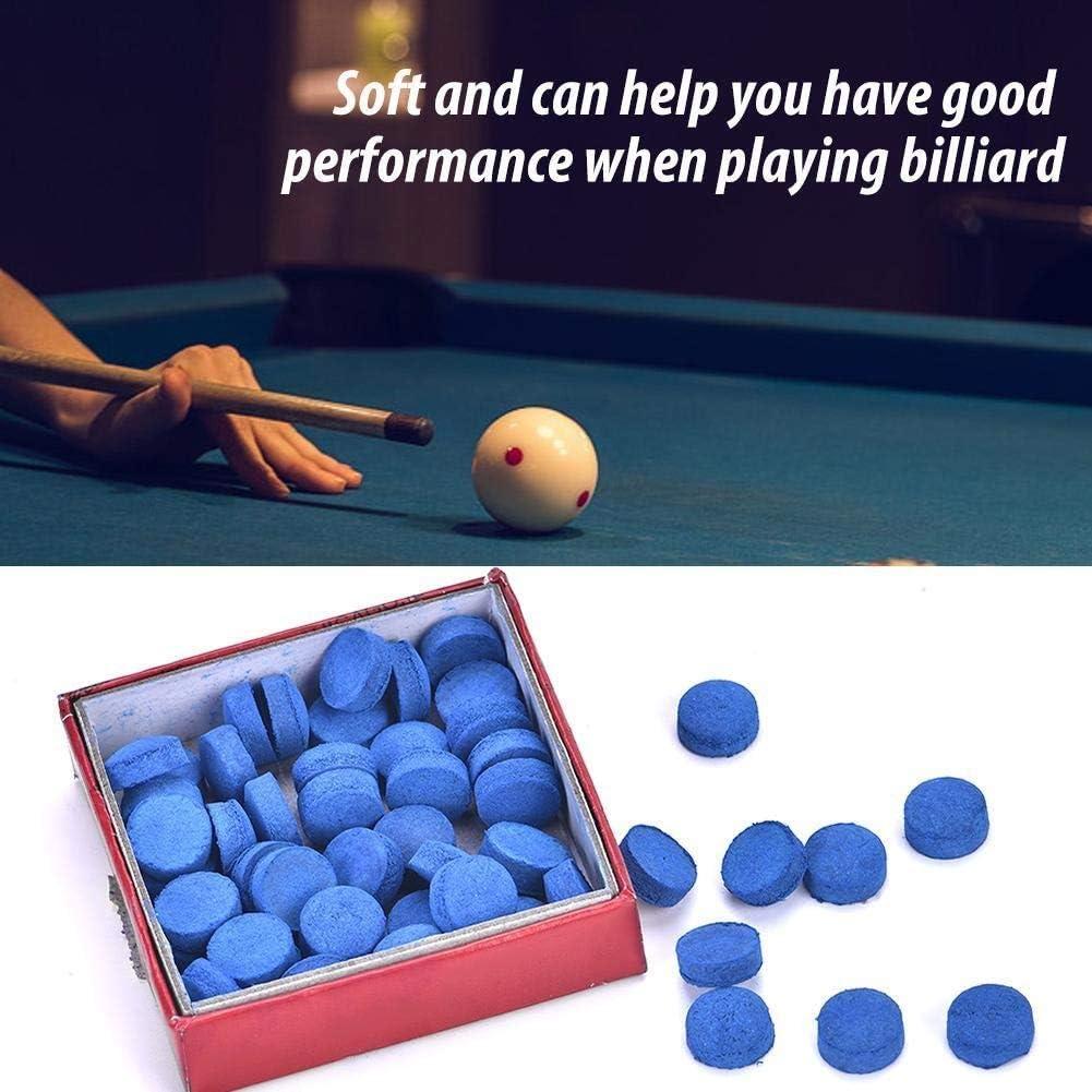 GXMZL Billar señal Tip - 50pcs Piscina del Billar Snooker Polo Taco Punta 10mm Reemplazo Sistema de la Caja de Snooker y Tacos de Billar Azul: Amazon.es: Deportes y aire libre