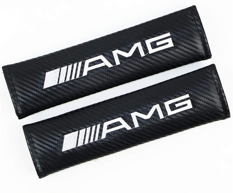 Acolchado para Hombros 2 Unidades de Coche de Fibra de Carbono cintur/ón de Seguridad para el Coche Ajuste AMG chisushangm