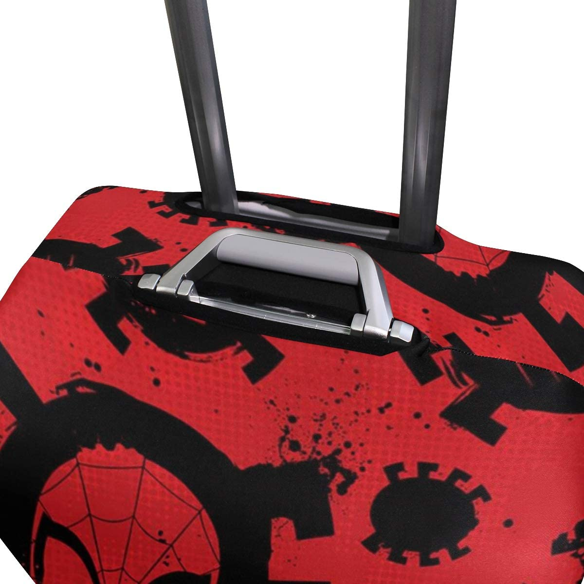 Spiderman Art Travel Luggage Cover Suitcase Protector Fits 26-28 Inch Washable Baggage Covers