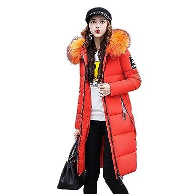fedf6ff66069 EASONDDD ダウンコート レディース ダウンジャケット 中綿コート 冬 アウター ファー フード ロング コート 着痩せ 大きい