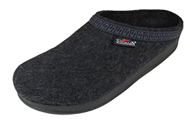 Men's Wool Clog With Poly Sole Graphite