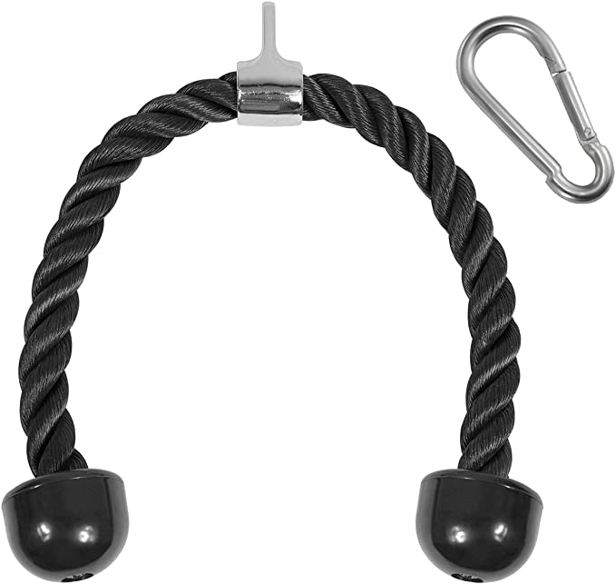 Triceps Rope Push Pull Down Rope Cord /& Resistance Band Handle Grips for Multi Gym or Home Workout Fitness Heavy Duty Tricep Rope Cable Attachment Arm Strength Training Equipment Accessories