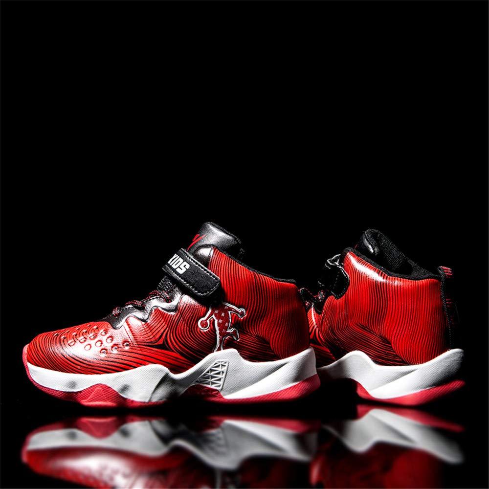 Jungen M/ädchen Velcro Sneakers High Top Sneaker Lauf Leichte Non-Slip F/ür Outdoor Indoor Gelegenheits,Blau,31 Willsky Kinder-Basketball-Schuhe