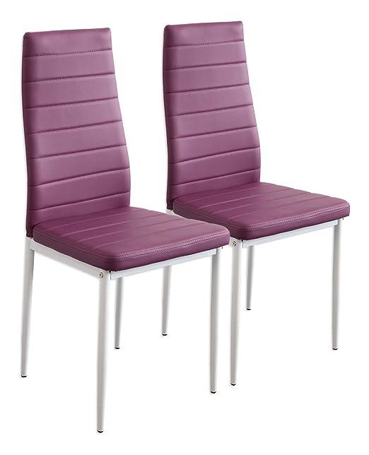 245 opinioni per Albatros 2867 MILANO- Set di 2 sedie da pranzo, porpora