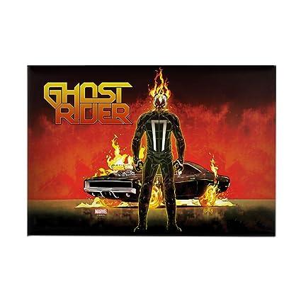 Amazon com: CafePress Ghost Rider Car Rectangle Magnet, 2