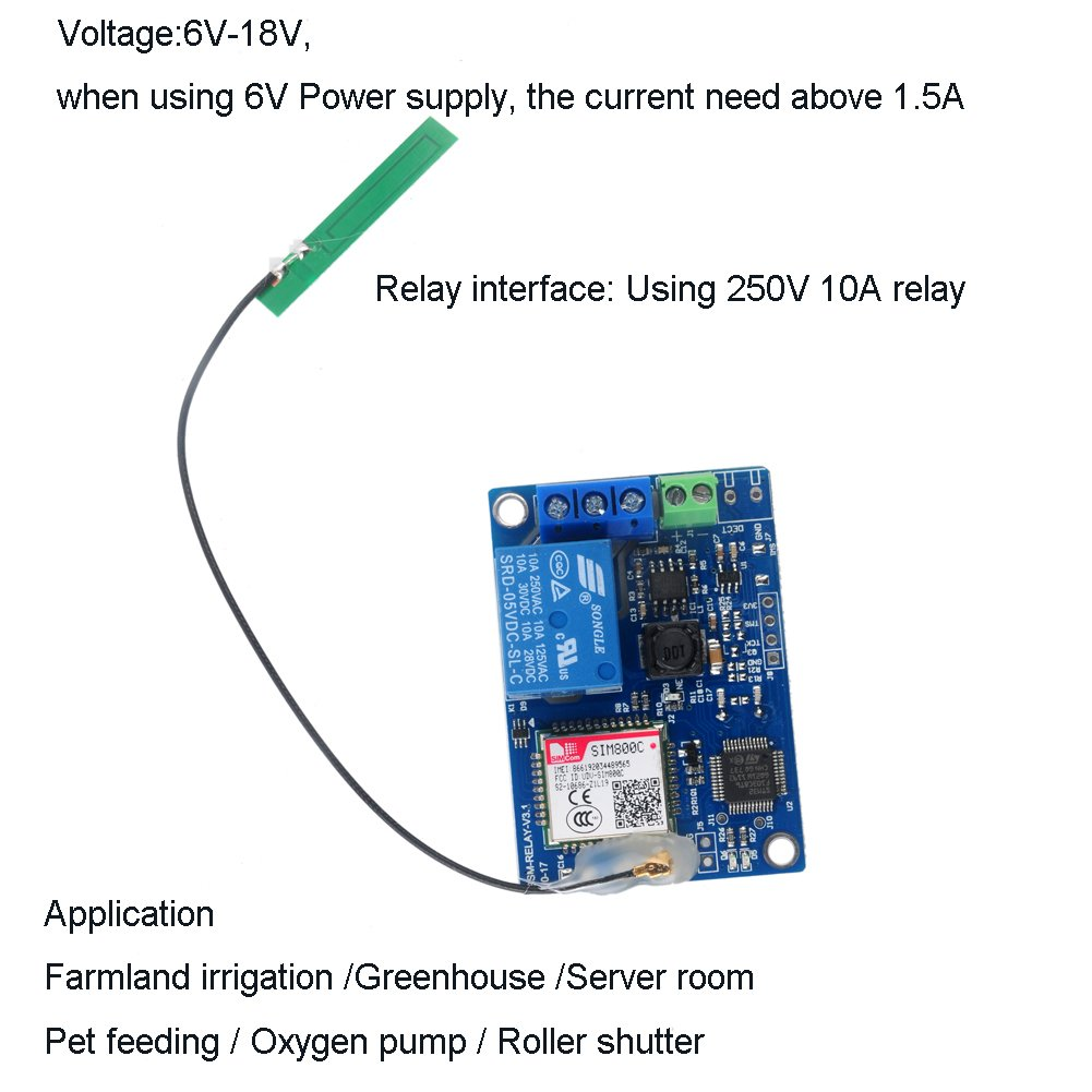 1 Channel Gsm Relay Smart Switch Module Home Sms Remote Devices And Control Eg Interfacing With Modem Controlling Sim800c Stm32f103cbt6 Antenna 2g Network For Greenhouse Oxygen Pump