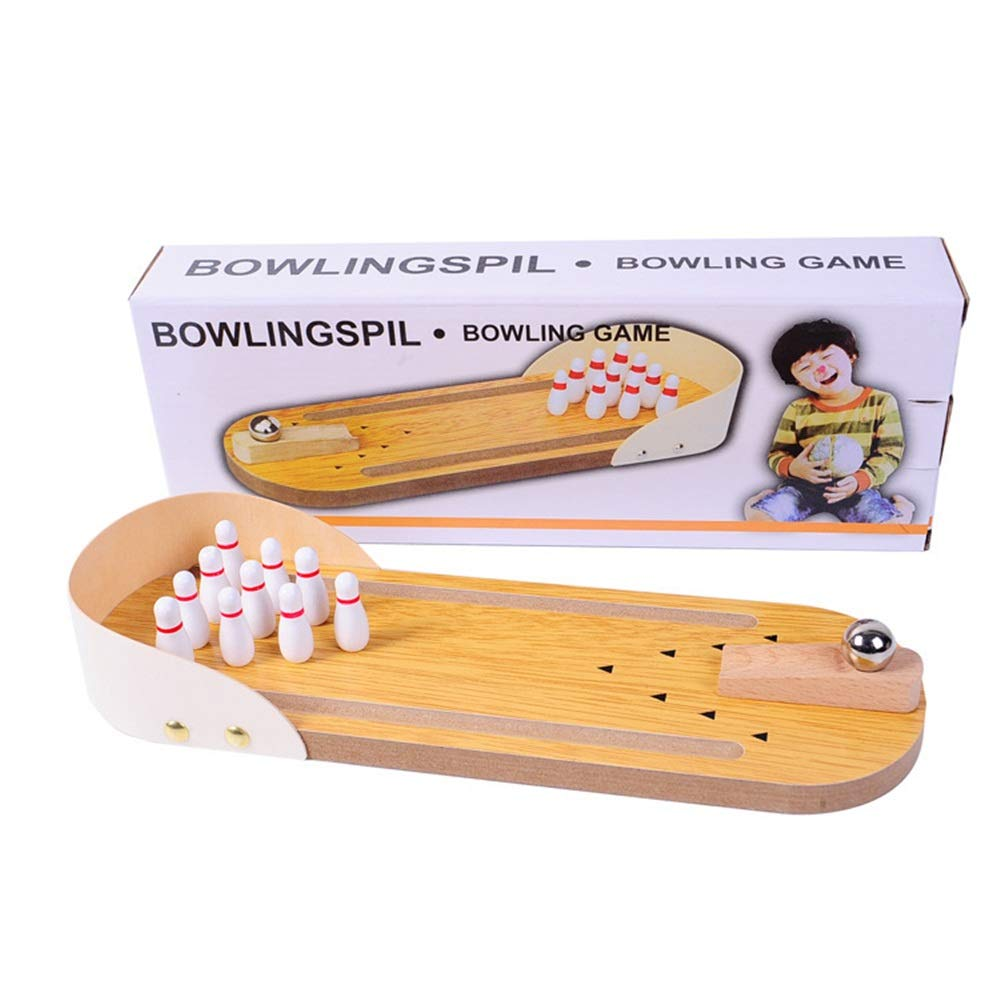 Bowling Toy Mini Bowling Game, Mini Wooden Desktop Bowling Game Mini Tabletop Bowling Toy Classic Desk Ball For Kids And Adults Children's Bowling Toys Children's Bowling Toys Kids Bowling Toys by KMCMYBANG