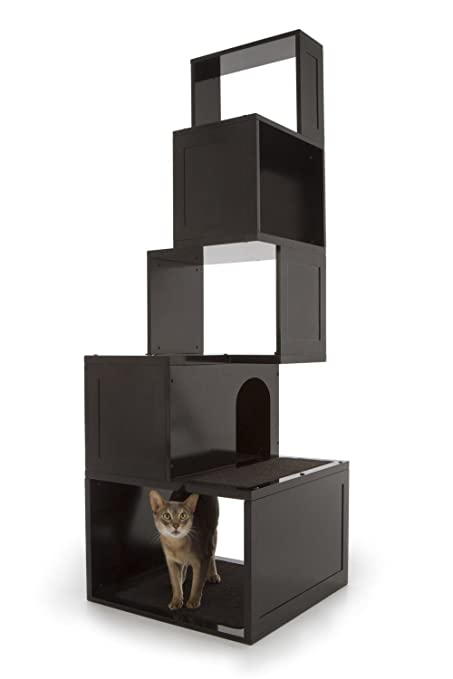 Delightful The Sebastian Modern Cat Tree In Black