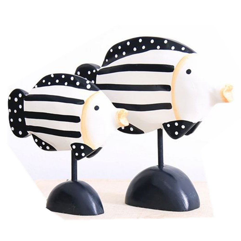 Branew Painted Wooden Home Furnishing Fish Home Decorations Wedding Gifts