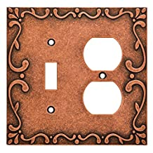 Franklin Brass W35074-CPS-C Classic Lace Switch/Duplex Wall Plate/Switch Plate/Cover, Sponged Copper