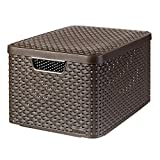 CURVER Style L - storage boxes & baskets (Storage basket, Brown, Rattan, Monotone, Bathroom, Bedroom, Living room)